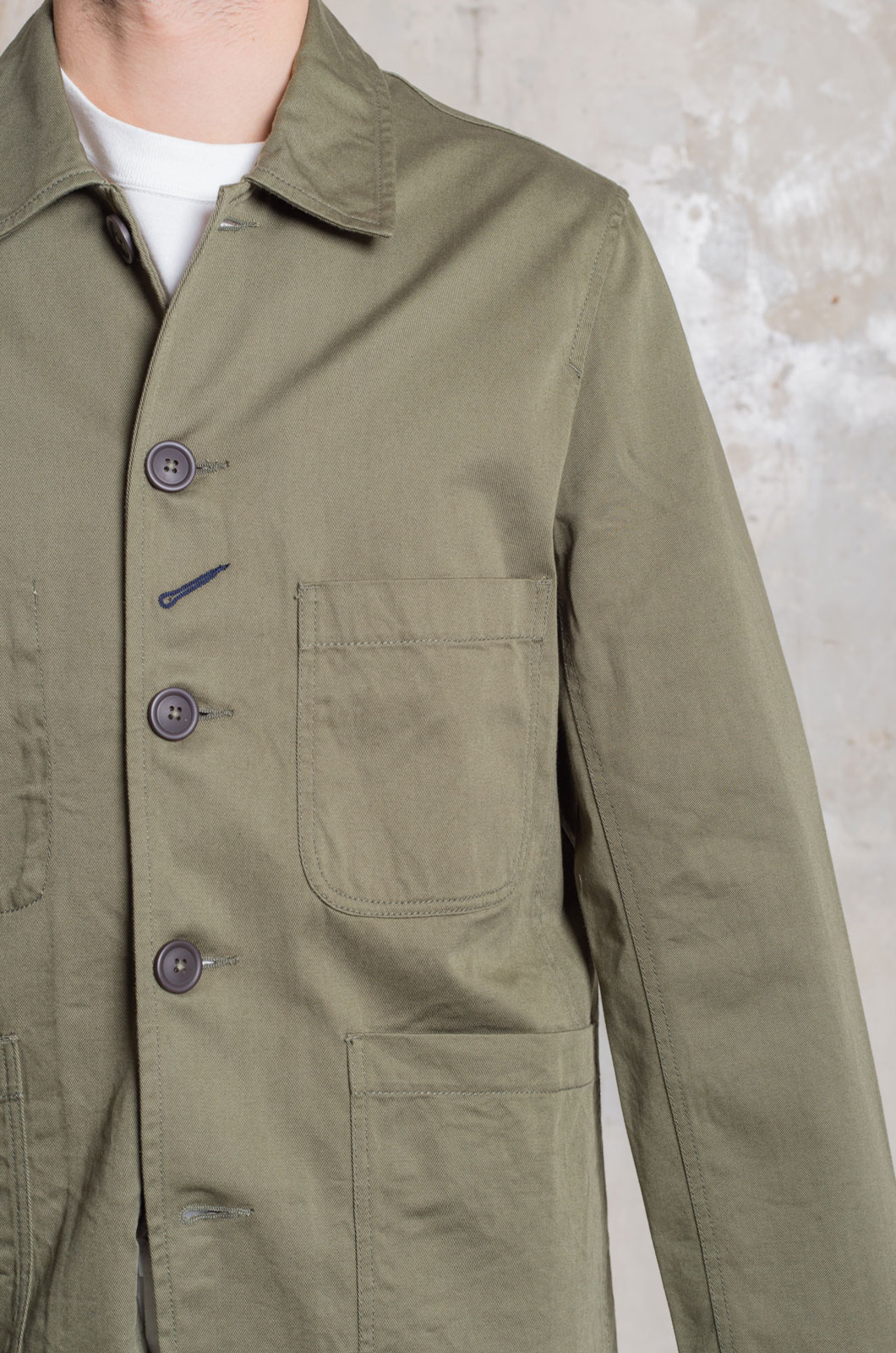Universal Works - Twill Bakers Jacket - Light Olive