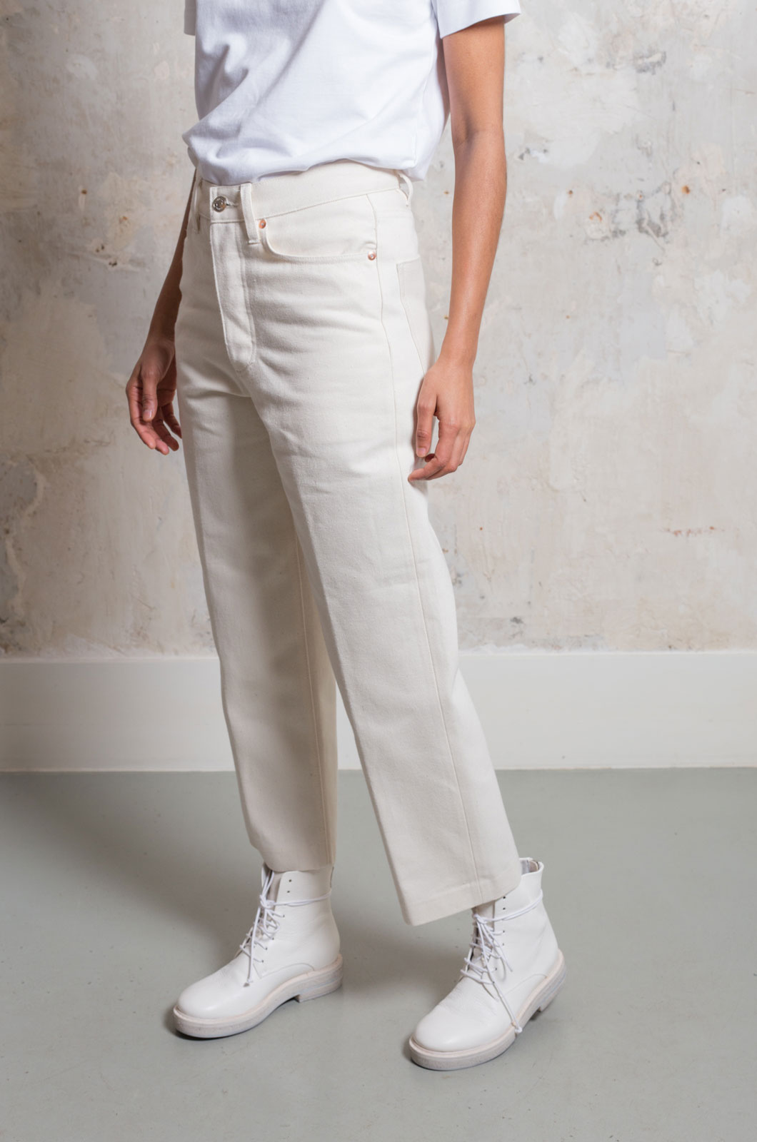 Tanaka - Dad Jean Trousers - Raw White