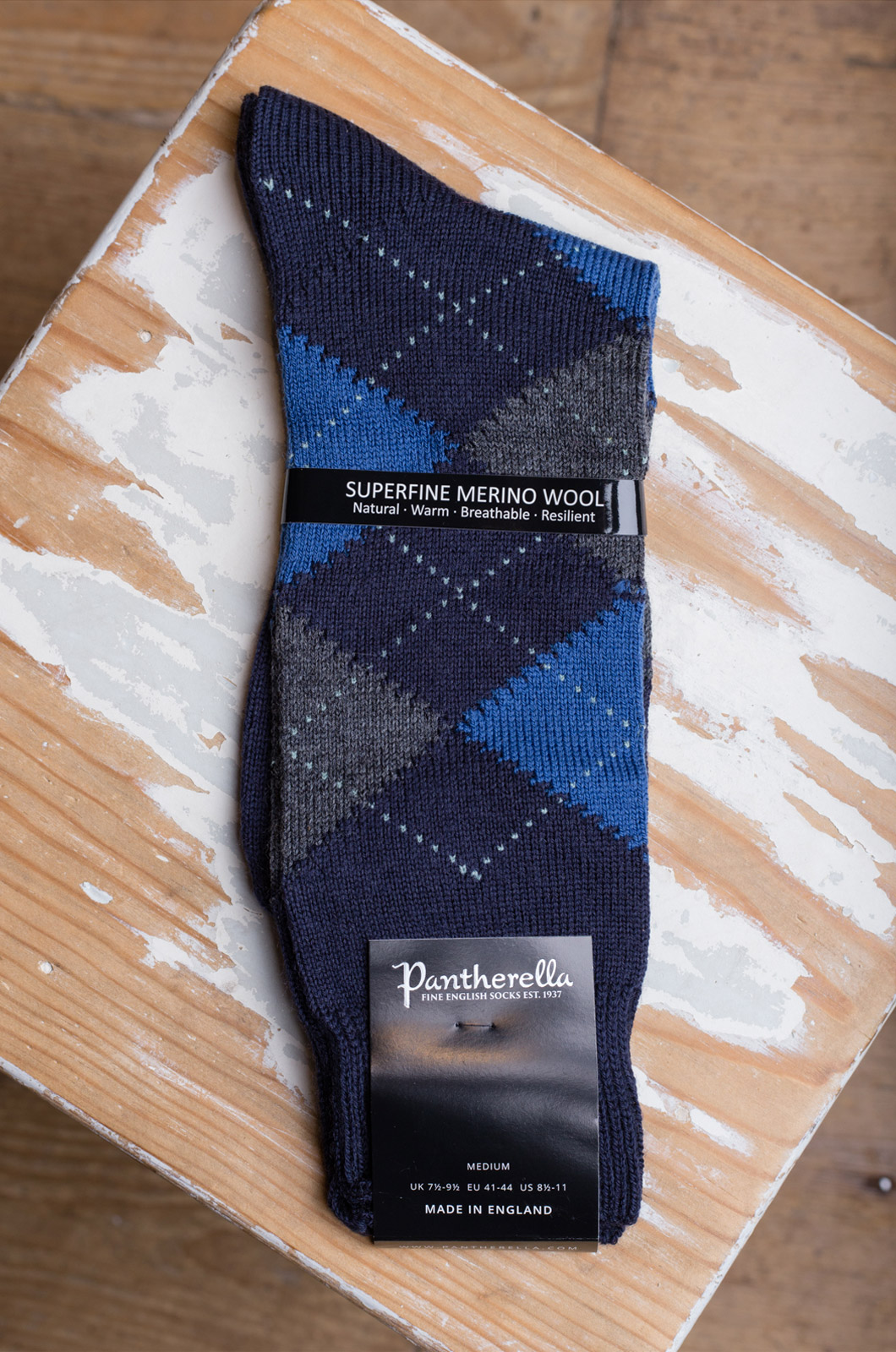 Pantherella - Socks - Racton Grey/Blue