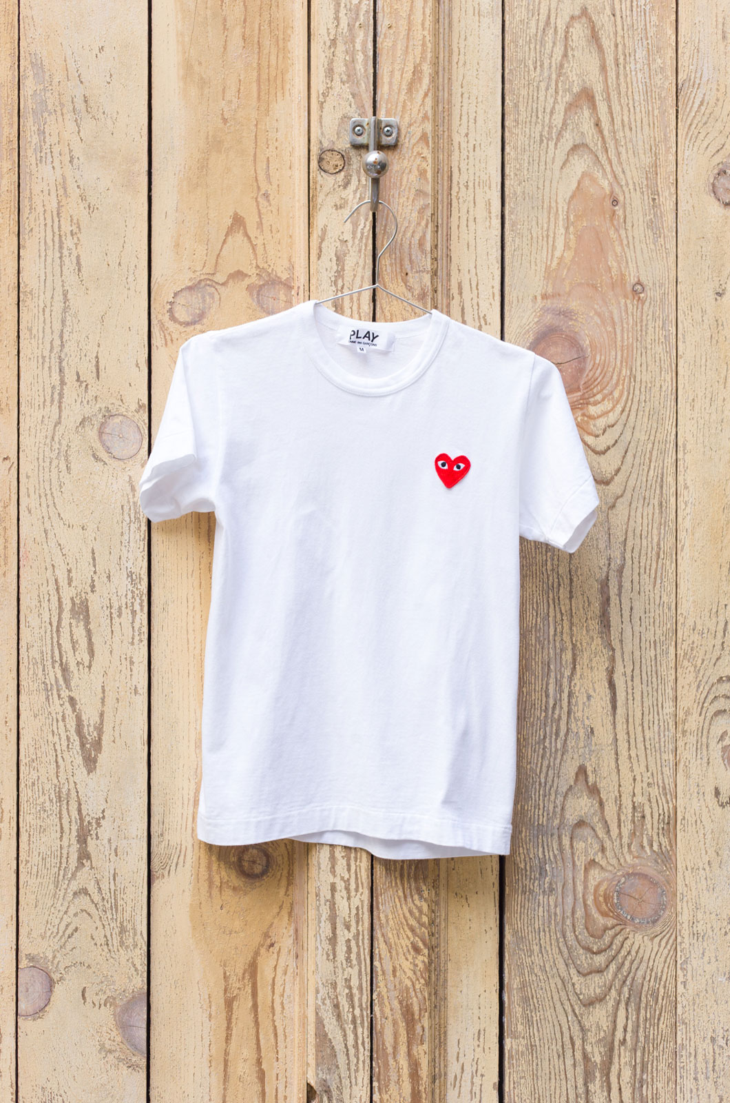 Comme Des Garçons - T-Shirt - Red Heart & Big Dot Heart