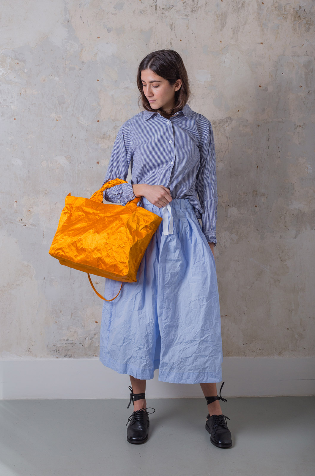 Zilla - Satin Big Shopper - Orange
