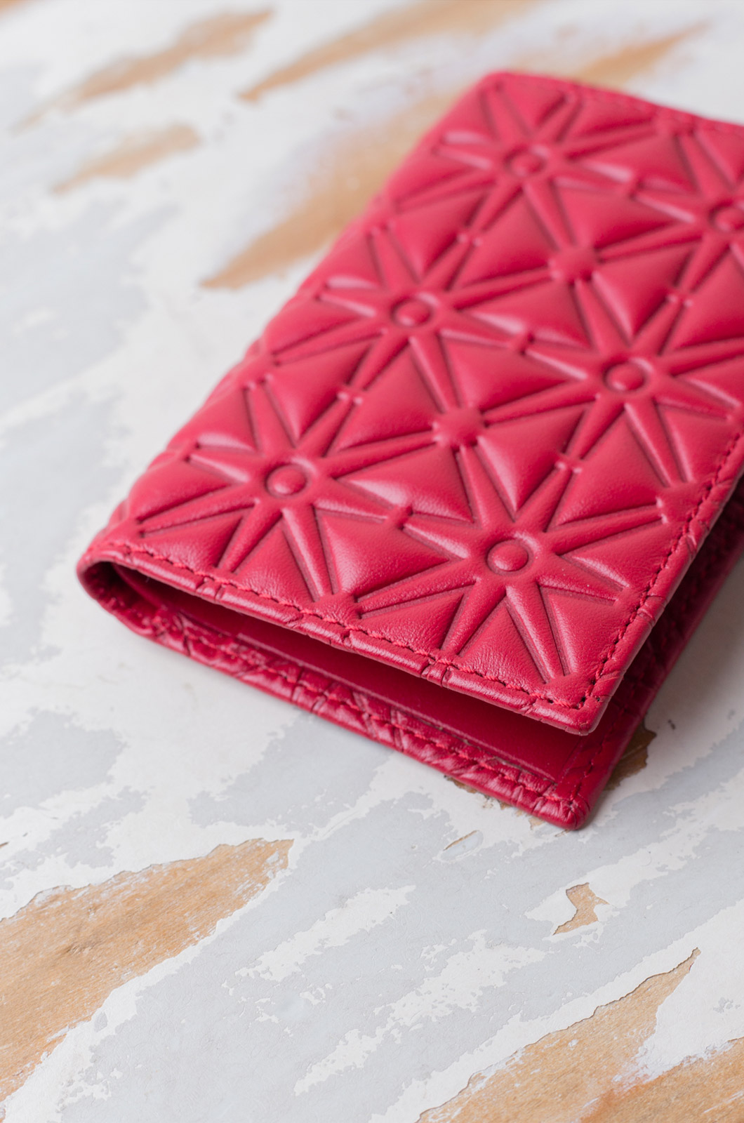 Comme Des Garçons - Wallet SA6400EA Classic Leather Embossed - Red