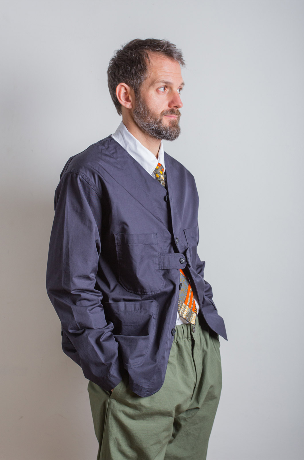 Engineered Garments – Cardigan Jacket – Dark Navy
