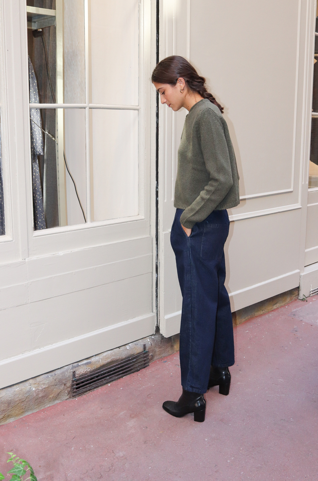 A Punto B - Trousers Denim - Indigo Blue