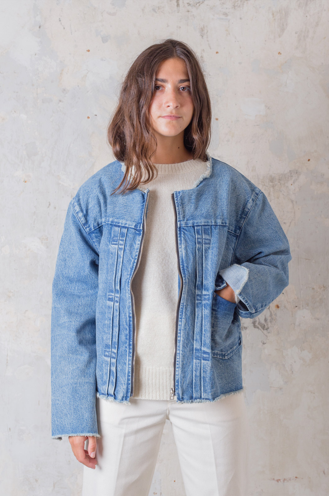 Tanaka - Unfinished New Classic Jean Jacket - Mid Washed