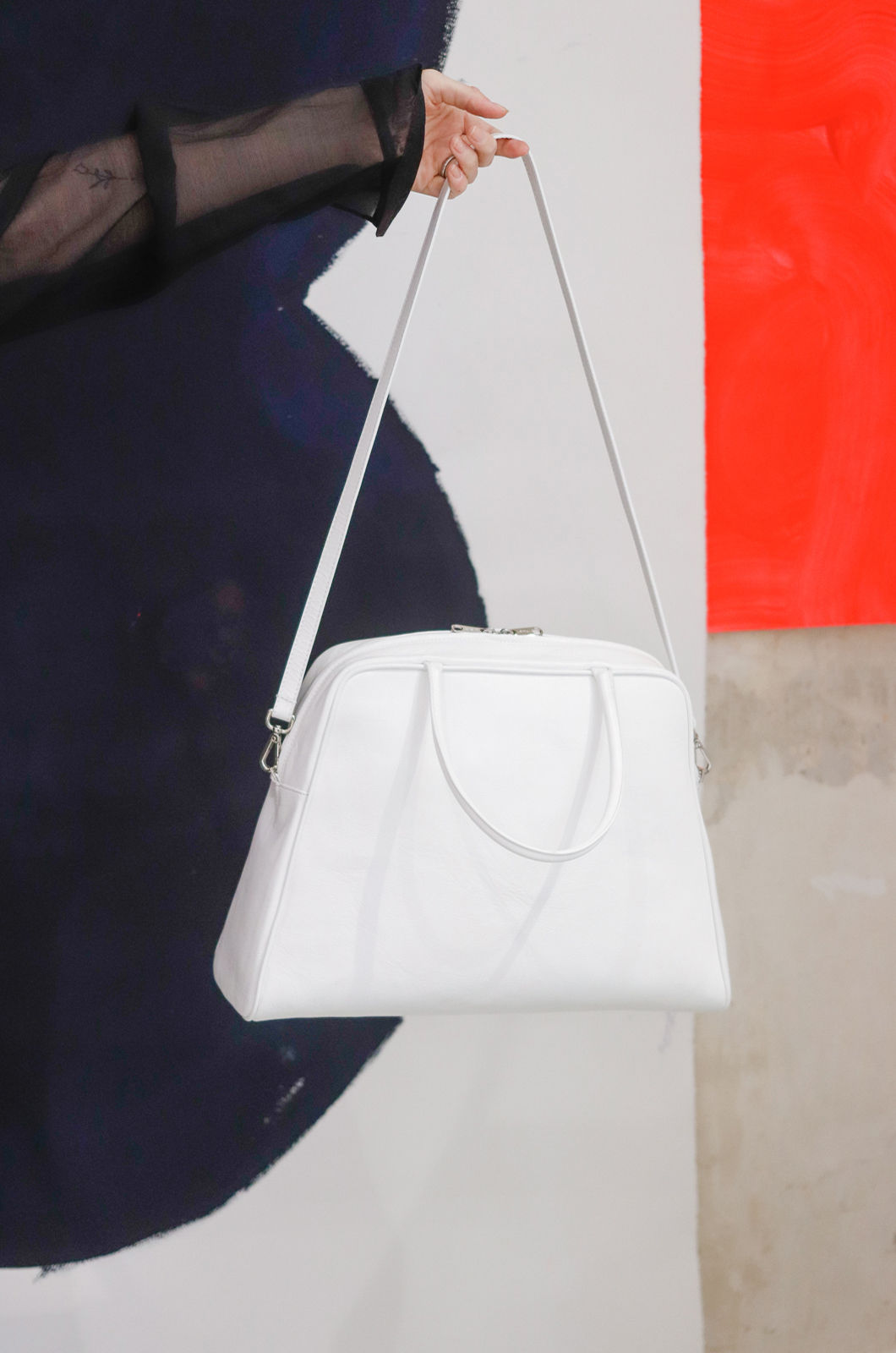 Zilla - Laque Leather Daily Bag - White